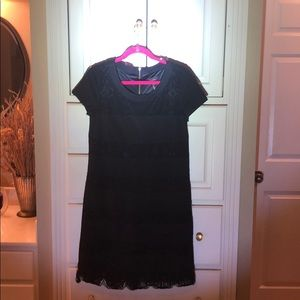 Laundry dress black with lace stripes